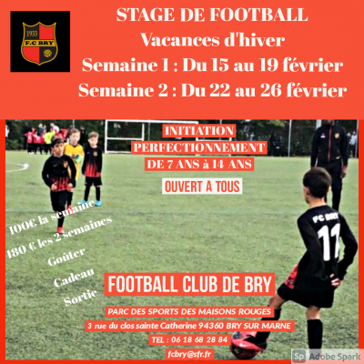 2 semaines stage fevrier 2021