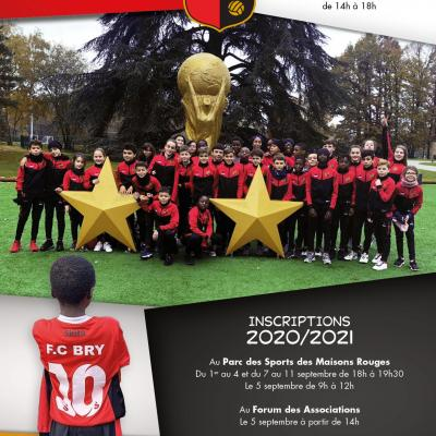 Affiche football club de bry inscriptions