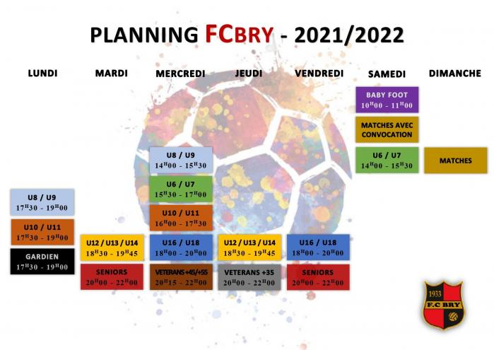 Planning fcbry saison 21 22 fcbry